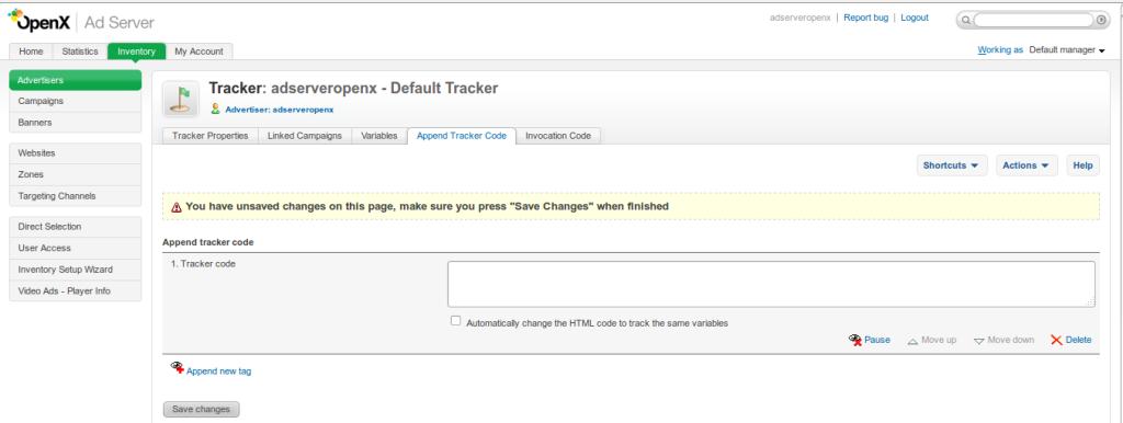 Tracker Appnedcode