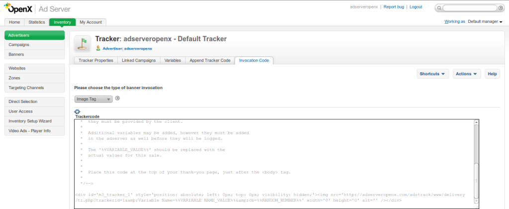 Tracker Code